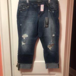Torrid Premium distressed cropped jeans